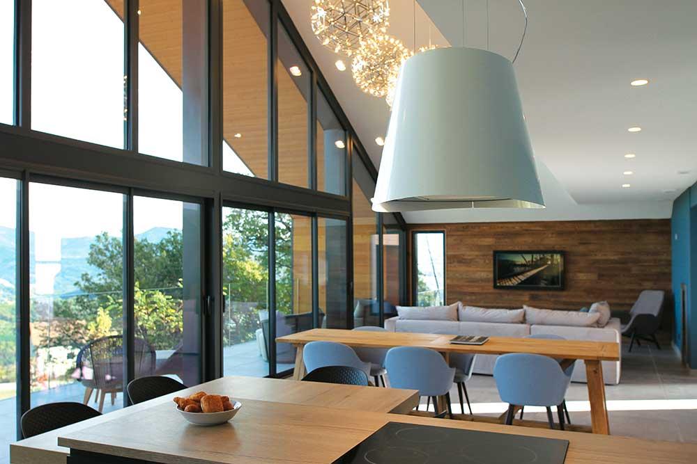 constructeur de maisons en bois - baie vitrée - Maison Eco Nature
